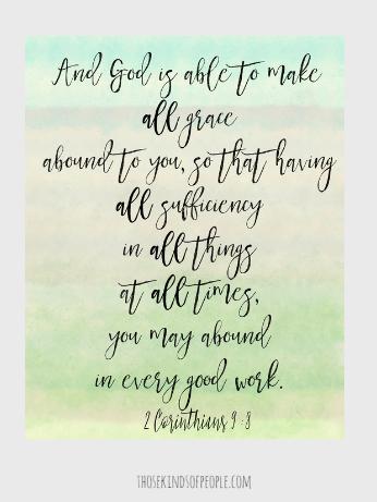 , feel like failure, sufficiency, good work, motherhood, feelings, homeschool, adoption, what my children need, grace, abundance, 2 corinthians 9:8